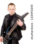 Rock Guitarist In The Leather...