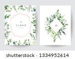 geometric botanical vector... | Shutterstock .eps vector #1334952614