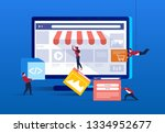 internet commerce trade shop... | Shutterstock .eps vector #1334952677