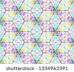 colorful seamless rhombus... | Shutterstock . vector #1334962391