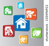 house security icons | Shutterstock .eps vector #133496921