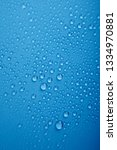 water drops on blue background | Shutterstock . vector #1334970881