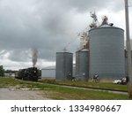 1940s era large freight steam... | Shutterstock . vector #1334980667