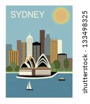 Sydney. Australia.Vector illustration