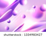 abstract 3d colorful gradient... | Shutterstock .eps vector #1334983427
