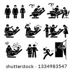 dentist and dental clinic with... | Shutterstock .eps vector #1334983547