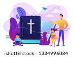 tiny people  kids boy and girl... | Shutterstock .eps vector #1334996084