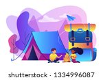 tiny people kids sitting at... | Shutterstock .eps vector #1334996087