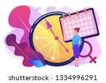 menopause woman standing at her ... | Shutterstock .eps vector #1334996291