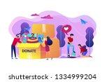 volunteers like helping ... | Shutterstock .eps vector #1334999204