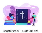 tiny people christians reading...   Shutterstock .eps vector #1335001421