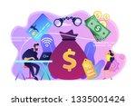 hacker at laptop commiting...   Shutterstock .eps vector #1335001424