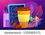 businessmen drinking take away... | Shutterstock .eps vector #1335001571