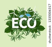 go green day. eco friendly...   Shutterstock .eps vector #1335006317