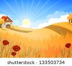 vector illustration of a rural...   Shutterstock .eps vector #133503734
