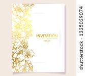 romantic wedding invitation... | Shutterstock .eps vector #1335039074