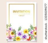 romantic wedding invitation... | Shutterstock .eps vector #1335039077