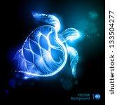 turtle. vector eps 10. | Shutterstock .eps vector #133504277