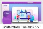 social media marketing landing... | Shutterstock .eps vector #1335047777