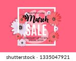 womens day  8 march sale ... | Shutterstock . vector #1335047921
