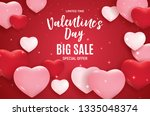 valentine's day love and... | Shutterstock . vector #1335048374