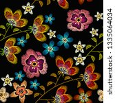 embroidery camomiles ... | Shutterstock .eps vector #1335064034