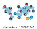 jobs and professions avatar | Shutterstock .eps vector #1335071747