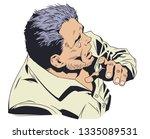 stock illustration. frightened... | Shutterstock .eps vector #1335089531