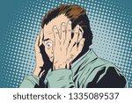 stock illustration. frightened... | Shutterstock .eps vector #1335089537