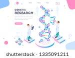 genetic banner promotion.... | Shutterstock .eps vector #1335091211
