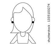 woman faceless avatar cartoon...   Shutterstock .eps vector #1335103274