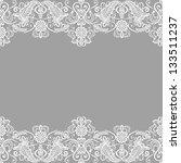 wedding invitation or greeting... | Shutterstock .eps vector #133511237