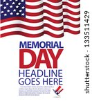 memorial day flag design. eps 8 ... | Shutterstock .eps vector #133511429