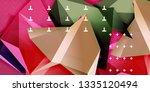low poly design 3d triangular...