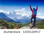 Hiker Celebrating Success On...