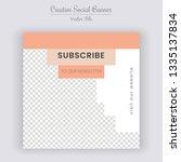social media banner template.... | Shutterstock .eps vector #1335137834