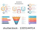six infographic templates for... | Shutterstock .eps vector #1335144914