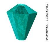 Emerald Stone Rough. Precious...
