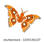 atlas moth icon vector... | Shutterstock .eps vector #1335156137