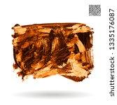 orange brush stroke and texture.... | Shutterstock .eps vector #1335176087