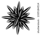 abstract black and white... | Shutterstock .eps vector #1335184514