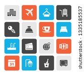 hotel  motel and travel icons   ... | Shutterstock .eps vector #1335185537