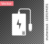 white power bank with different ... | Shutterstock .eps vector #1335194351