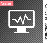 white computer monitor with... | Shutterstock .eps vector #1335213497