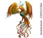 phoenix  the mystery mythical... | Shutterstock . vector #1335217364