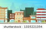 modern city  town street flat...