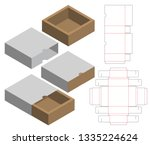 box packaging die cut template... | Shutterstock .eps vector #1335224624