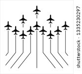 airplane flying formation  air... | Shutterstock .eps vector #1335230297