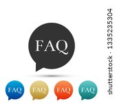 speech bubble with text faq... | Shutterstock . vector #1335235304