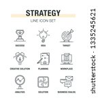 strategy line icon set | Shutterstock .eps vector #1335245621